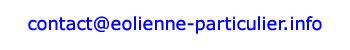 Contactez Eolienne-particulier.info