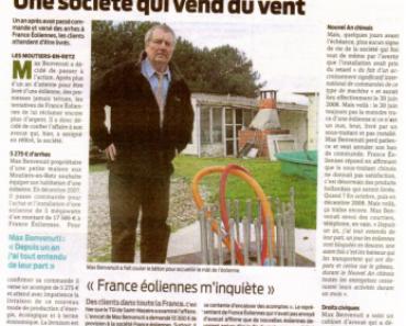 La presse Loire Atlantique sur France éolienne