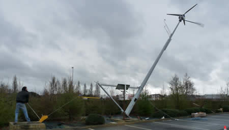 Installation d'une éolienne par GR Energies