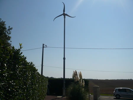 Skystream installée par Energies Renouvelables 86 à Marçay