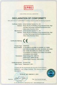 Certificat CE Dynamo Co 2011
