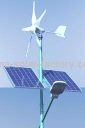 Lampadaire avec éolienne hybride Solar-factory Chine