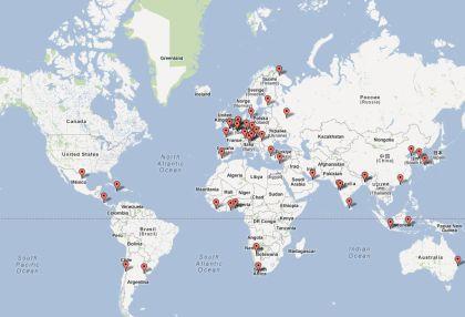 Carte Googlemap du réseau de distribution de Windtronics