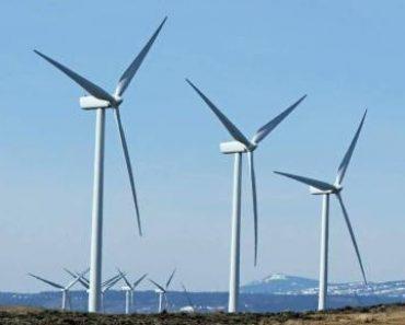 Une installation éolienne